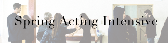 Spring Acting Intensive Button
