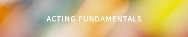 acting fundamentals button
